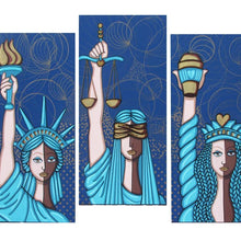 Liberty, Justice and Starbucks for All by Jacqui Miller, Acrylic on Canvas