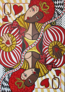 Queen of Hearts by Jacqui Miller, Acrylic on Canvas