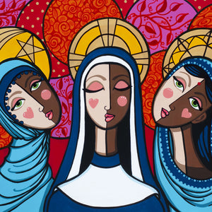 Sisterhood of the Covered Head by Jacqui Miller, Acrylic on Canvas