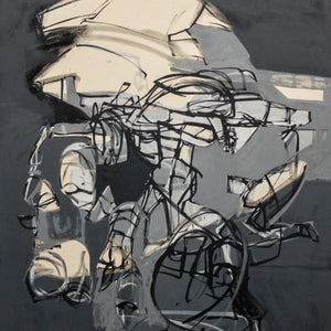 """Untitled 43"" by Jose Moguel, Ink & Acrylic Emulsion on Canvas"