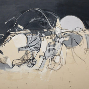 """Untitled 53"" by Jose Moguel, Ink & Acrylic Emulsion on Canvas"
