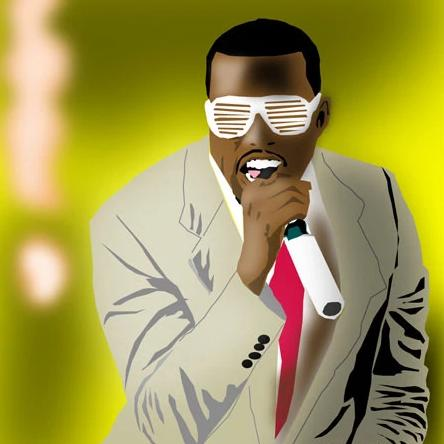Kanye West by Michael Chatman, Digital Media