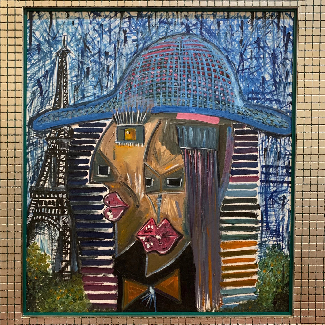 La Mexicana en Paris by German Ortega and Theresa Wachter, Oil on Canvas