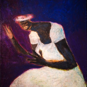 Meditation of Miss Cook by Jerome Wright, Mixed Media on Canvas