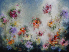French Gardens by Sharon Grimes, Mixed Media on Canvas
