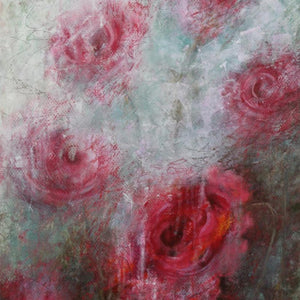 A Nod to Spring by Sharon Grimes, Mixed Media on Paper Mounted to Board
