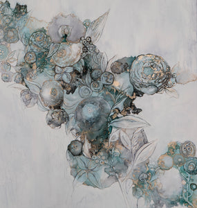 Nature's Lace by Mishel Schwartz, Alcohol Ink on Yupo Paper