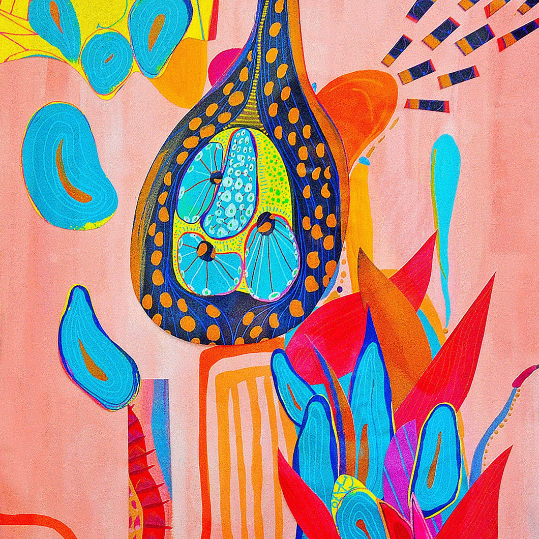 Neme Sola by Cynthia Pareja Dubin, Mixed Media on Paper