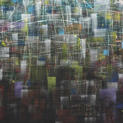 Net by Jacek Jasiniak, Mixed Media on Canvas