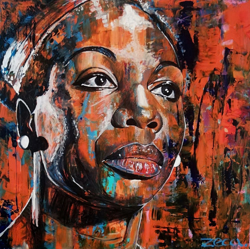 Nina Simone by Zeca Vilela, Acrylic on Canvas