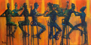 Orange Bar by Andres Merida, Mixed Media on Canvas