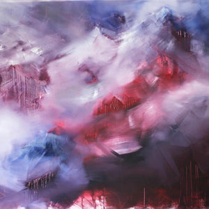 ...From the Emergence and Transience of the Peaks by Hans Peter Perner, Oil on Canvas