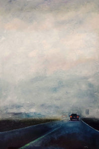 On The Road in Coahuila by Joao Quiroz, Oil on Canvas