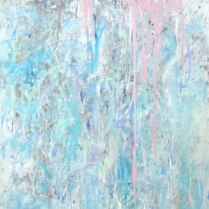 Pink Harbour by Pearl Bayne, Mixed Media on Canvas