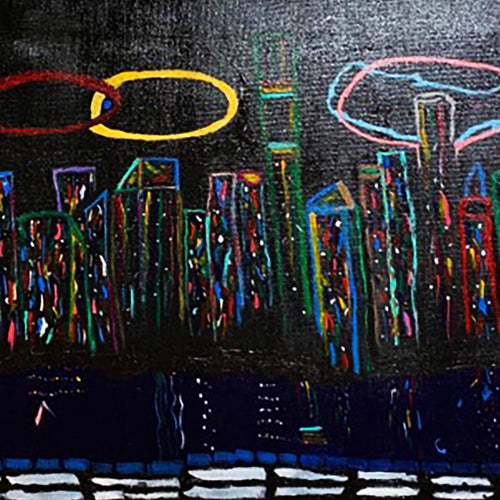 NYC by PJ Landers, Acrylic on Canvas