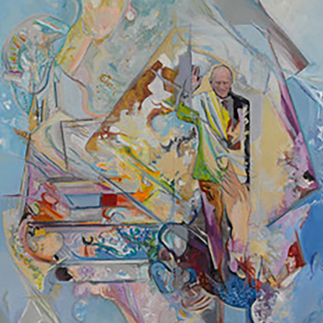 Prince Phillip Aura Pure by Degard, Oil on Paper and Canvas