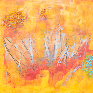 Sunburst by Rita Klachkin, Encaustic and Mixed Media
