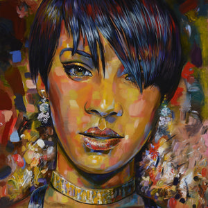 Rihanna by Robert Lyn Nelson, Oil on Canvas