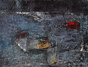 Boat by Yoonsook B Ryang, Oil Based Ink with Oil Stick on Rice Paper