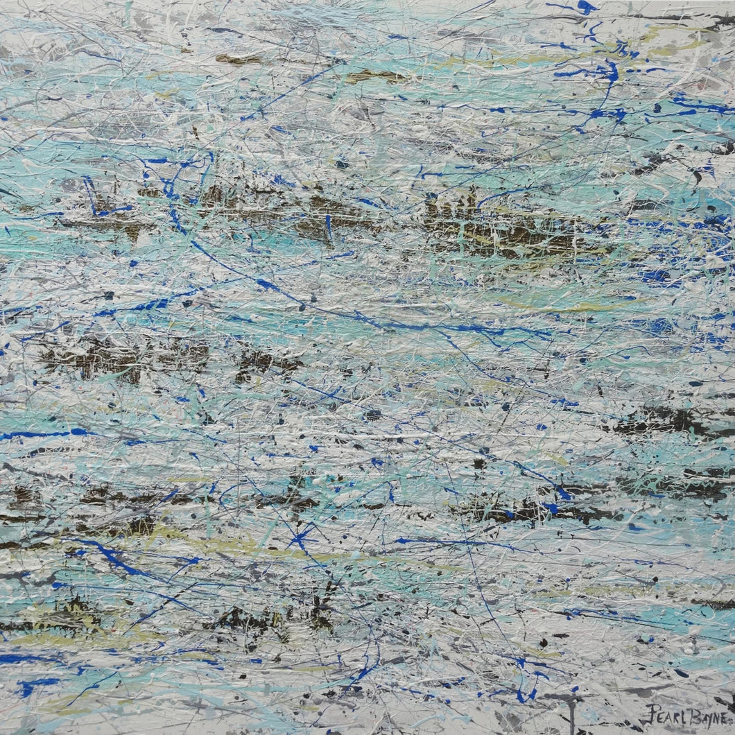 Sea of Bliss by Pearl Bayne, Mixed Media on Canvas