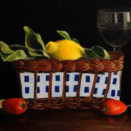 Lemons In A Basket by Sarasvathy TK