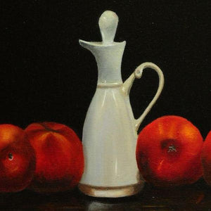 Still Life With Peaches by Sarasvathy TK