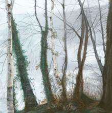 """Winter trees""  By Caroline Walker, Pastel & Watercolour on Paper"