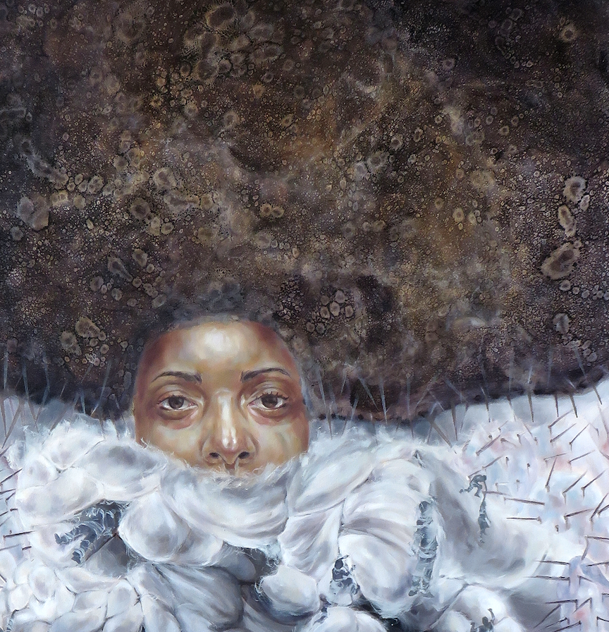 """Wool II"" By Crystal Marshall, Oil on Paper"