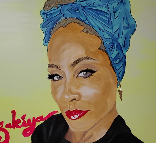 """Jada Pinkett Smith"" By Zakiya Raines, Oil on Canvas"