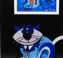 """Marc Chagall by UniCAT"" by Andrej Kransic, Acrylic"