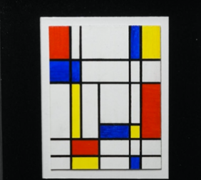 """Piet Mondrian by UniCAT""  by Domenico Gonzi , Acrylic"