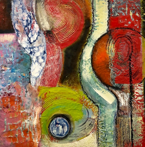 After Awhile by Caryl Gordon, Mixed Media Encaustic on Wood Panel