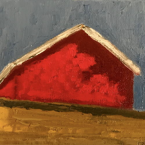 Red Studio by Isaac Garcia, Oil on Canvas Paper