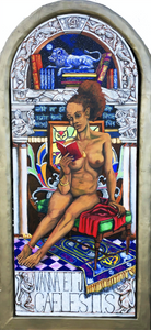 Vanna and the Celestial Jukebox (fates #1) by Adam Townsend, Oil on canvas-wrapped panel