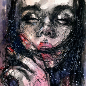 """Februaray"" By Doriana Popa, Mixed Media on Paper"