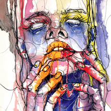 """Vision"" By Doriana Popa, Mixed Media on Paper"