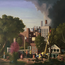 City Sublime by Keith Kattner, Oil on Canvas