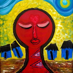 Love Woman by Julio Sanchez, Mixed Media on Canvas