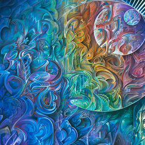 Dawn of Transcendental Jubilance by Derek Carpenter, Acrylic on Canvas