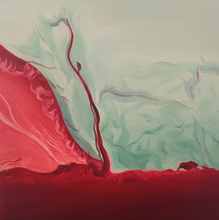 Flowing by Ming Ying, Oil on Cotton