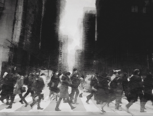 Dark City by Val Peter, Archival Ink Print