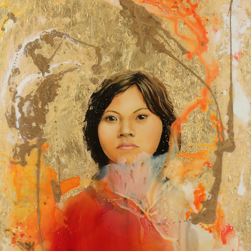 I Am Not Afraid by Thuy Linh Bennett Kang, Mixed Media on Canvas