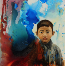 Number222 by Thuy Linh Bennett Kang, Mixed Media on Canvas
