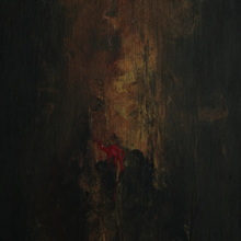 """ Gold #3"" By Elijah Gromov, Acrylic on plywood"