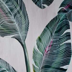 """Banana Leaves"" By Meredith Palmer, Acrylic on Canvas"