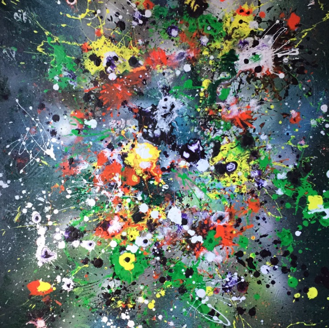 Splash It Up by Nadea Cutitaru, Mixed Media on Canvas