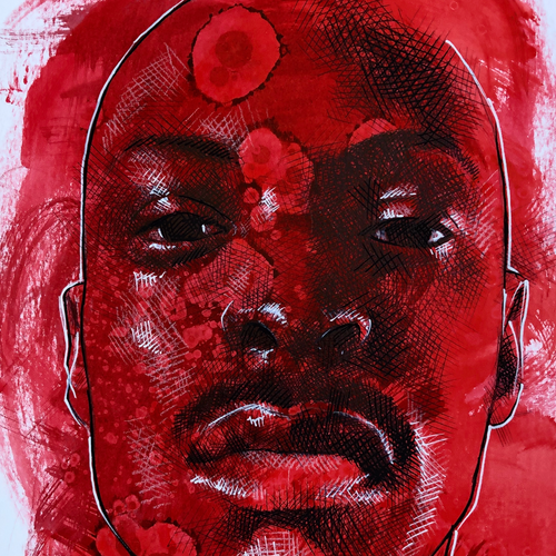 Red 4 by Scott Bratek, Mixed Media on Paper