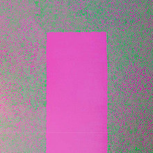 Fluorescent Green Squiggle on Magenta by William Lindsay, Mixed Media on Canvas