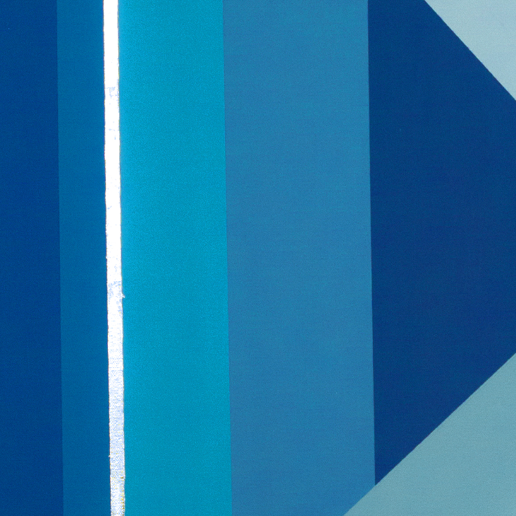 Diptych: Blue Pattern 1.1 & 1.2 by YUVO, Mixed Media on Canvas