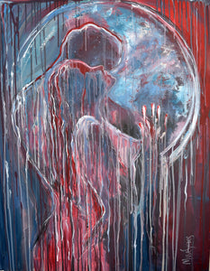 """Touching Soul"" By Sandra Va, Acrlyic on Canvas"